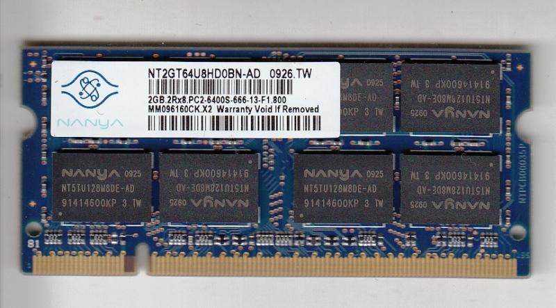 Nanya Nt2gt64u8hd0bn Ad 2gb Ddr2 Sodimm Memory Module Pc2